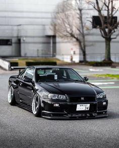 Nissan Gtr R34, Best Jdm Cars, Street Racing Cars, Nissan Gtr Skyline, Pretty Cars, Drifting Cars, Tuner Cars, Japan Cars, Sport Cars