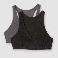 f29aa61d77f Sujetador de embarazo y lactancia (lote de 2) negro + gris La Redoute  Maternite
