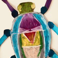 Oil Pastel Bug Art Project.