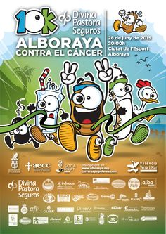 Cartel oficial 10K Alboraya contra el cáncer 2015