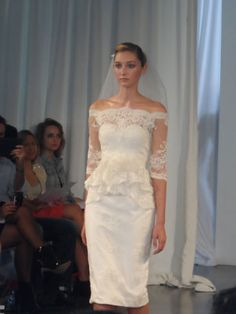 Marchesa gown. Short wedding gowns, hot or not? #glamgowns