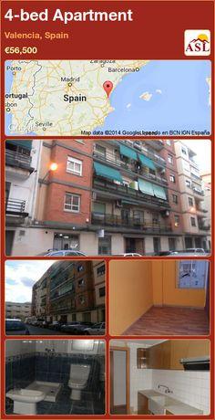4-bed Apartment in Valencia, Spain ►€56,500 #PropertyForSaleInSpain