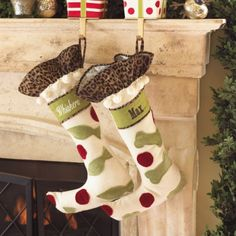 Personalized pet stockings :)