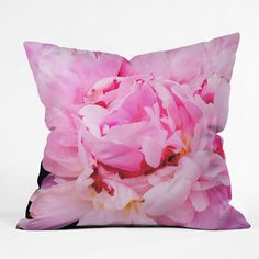Happee Monkee Pretty Pink Peony Outdoor Throw Pillow | DENY Designs Home Accessories