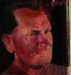 Adrian Ghenie :  The Collector 2, 2008, oil on canvas, 30 x 30 cm