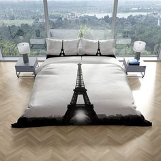 Paris Eiffel Tower Queen Quilt Cover Set · Includes 1 Quilt cover and 2 pillowcases · Reverse side is white · Easycare bedding set-Machine washable New lightweight brushed microfibre super soft fabric This Take Me to Paris Quilt Doona duvet Queen [. Paris Quilt, Paris Eiffel Tower, Quilt Cover Sets, Queen Quilt, Cover Size, Vintage Girls, Pillowcases, King Size, Soft Fabrics