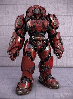Machine Art. Sci-fi Combat Armour.