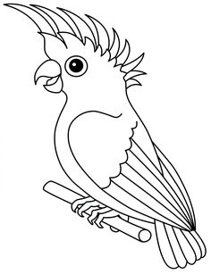 Use this image as a canvas! Elephant Template, Bird Template, Outline Drawings, Art Drawings, Animal Coloring Pages, Coloring Books, Parrot Drawing, Jungle Decorations, Pvc Pipe Crafts