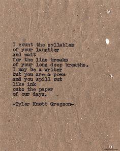 Typewriter Series #615byTyler Knott Gregson