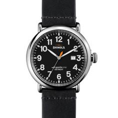 THE RUNWELL 47mm Men's Black Watch with Date