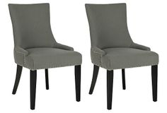 One Kings Lane - Stylish Upgrades - Slate Lester Dining Chairs, Pair