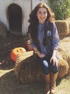 Get ready for Fall with a monogrammed vest from Marleylilly.com!
