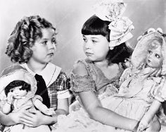 two child stars Shirley Temple Jane Withers compare dolls 561-06