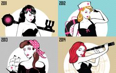 The history of the Green Flash Treasure Chest Pinup girl #MthDegree #GreenFlash