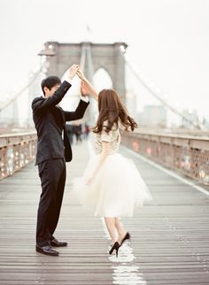 NYC Engagement Session - Alexandra Grecco tulle skirt