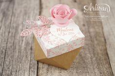 Stampin´ Up! - Gastgeschenk Taufe - Thinlits Blütenpoesie - Spiralblume - Diamant Verpackung - Für Lieblingsmenschen - 1
