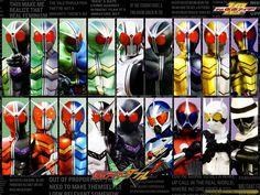 Kamen Rider W formation