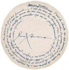 Paul ÉLUARD 1895 - 1952  Poème autographe signé