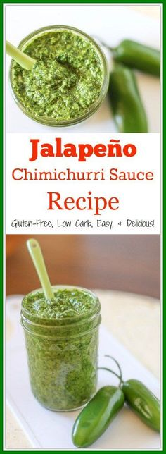 Chimichurri is a tasty Argentina based sauce that you can use to flavor meats, eggs, and  vegetables. This Jalapeño Chimichurri Sauce Recipe spices up the traditional version.