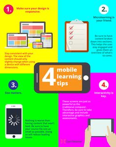 4 Mobile Learning Tips Infographic - http://elearninginfographics.com/4-mobile-learning-tips-infographic/