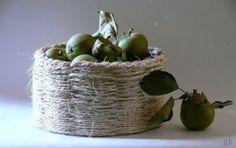 gkkreativ: DIY - Körbchen aus Paketschnur weben