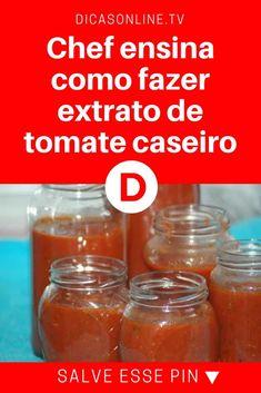 Extrato de tomate caseiro | Chef ensina como fazer extrato de tomate caseiro | Para manter os pelos de roedores bem longe das suas receitas!