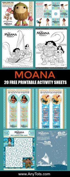 Free Printable: Moana Coloring and Activity Sheets