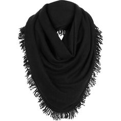 White + Warren Cashmere Triangle Fringe Scarf ($178) ❤ liked on Polyvore featuring accessories, scarves, neckwear, fringe scarves, triangular shawl, cashmere shawl, cashmere scarves and triangle scarves
