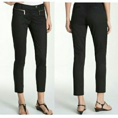 Michael Kors slim cropped dress trousers Michael Kors dress pants with zipper pockets. Size 4. Waist is about 30 inches circumference, inseam 27 inches from crotch. 97% cotton, 3% spandex. Little bit of copper color discoloration on zippers. Michael Kors Pants