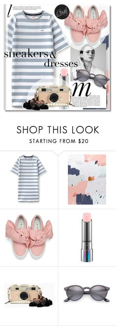 """""""Sneakers and Dresses"""" by addorajako ❤ liked on Polyvore featuring Lacoste L!VE, Chanel, Whiteley, Joshua's, MAC Cosmetics, Kate Spade, Ray-Ban and SNEAKERSANDDRESSES"""