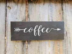 Hello and thanks for stopping by Bearly Makin It -n- Montana !!!  This sign measures 15 3/4 L x 5 1/2 W. Rustic wood arrow sign that reads Coffee
