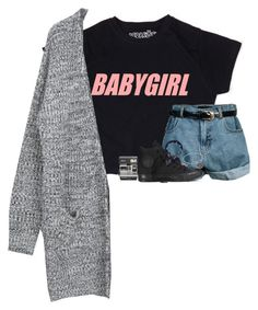 """-- babygirl."" by jxst-like-galaxy ❤ liked on Polyvore featuring Retrò, Converse, Alex and Ani, Accessorize and Polaroid"
