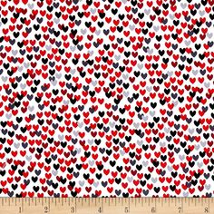 Scottie Love Love Me Hearts White from @fabricdotcom  Designed by Maria Kalinowski for Kanvas in association with Benartex, this cotton print fabric will make your heart swell! Perfect for quilting, apparel and home decor accents. Colors include white, black and shades of red and grey.