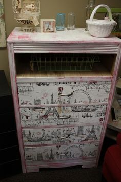 Shabby Chic Paris Inspired Dresser