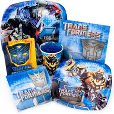 Transformers birthday party guide which includes games to play etc.