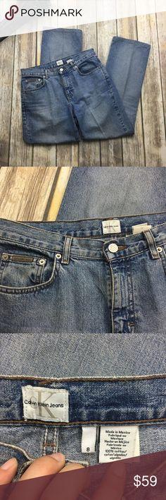 🎈 Vintage Calvin Klein Sandblast Boot Cut Jeans Vintage sandblast high waist boot cut jeans. Size 8 . In excellent used condition. 32 inch waist. 11 inch rise. 29 inch inseam. Calvin Klein Jeans Boot Cut