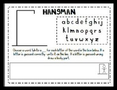 Hangman - can do this in my word study center
