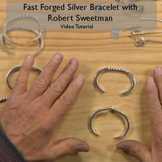 Learn basic forging techniques and how to choose the right hammer for the job in this jewelry tutorial. Robert Sweetman will help you design and forge beautiful silver bracelets you'll be proud to show off