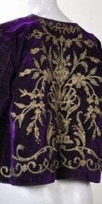 19th Century Ottoman Empire Gold Metallic Emproidered Purple Velvet Jacket