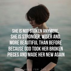 Sometimes you have to break. You can decide how to put the pieces back together. You either build a masterpiece or remain a disaster.