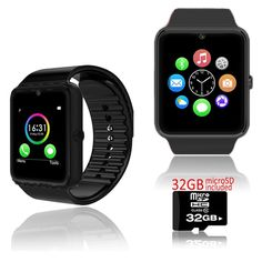 NEW Trendy 2016 Fitness Bluetooth Wireless SmartWatch&Phone w/ FREE 32GB microSD. GSM Unlocked phone that can be used from anywhere across the world. It works with any gsm wireless carriers in the world such as At&t, T-mobile, Straightalk, Orange, Vodafone, you name it. You can input your GSM micro SIM-card and gain instant access to an amazing communication device that works like a cell phone on your wrist. Connect to your smartphone via Bluetooth 3.0 and bring all the features to your...