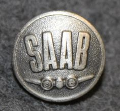 Saab, Svenska Aeroplan AB, car and airplane manufacturer, early type, Airplane, Abs, Buttons, Personalized Items, Type, Plane, Crunches, Aircraft, Abdominal Muscles