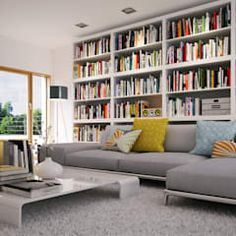 Piwko-Bespoke Fitted Furniture: klasik tarz tarz Oturma Odası Having a healthy and fit body is Home Library Rooms, Home Library Design, Library Furniture, Home Libraries, Living Furniture, Home Furniture, House Design, Library Bar, Bespoke Furniture
