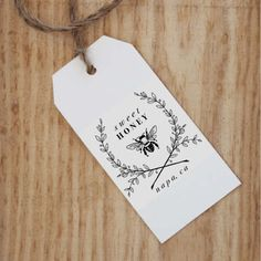 Honey Packaging Stamp  Bees Wax Stamp  Etsy Shop Label Stamp