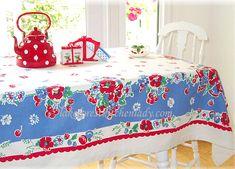 vintage table cloth -- lakeforestkitchenlady.com