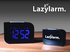 Lazylarm Alarm Clock by Martin Johnson — Kickstarter.  Lazylarm is the 2 part Alarm Clock that eliminates the risk of oversleeping. Designed for heavy sleepers and serial snoozers!