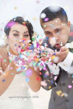 Blow Confetti (Angie Shutt Photography)