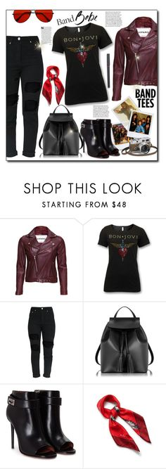 """""""I'm With the Band: Band T-Shirts"""" by beograd-love ❤ liked on Polyvore featuring VIPARO, Hermès, Le Parmentier, Givenchy and Mulberry"""