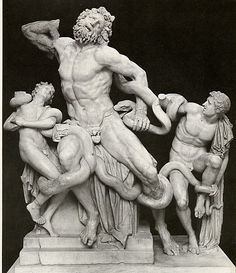 The Romans adapted many aspects of the Greek culture and society. This is an example of the Greco-Roman art.
