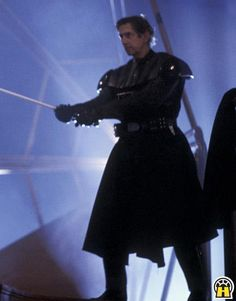 Sword master Bob Anderson doing Darth Vader's fight sequences